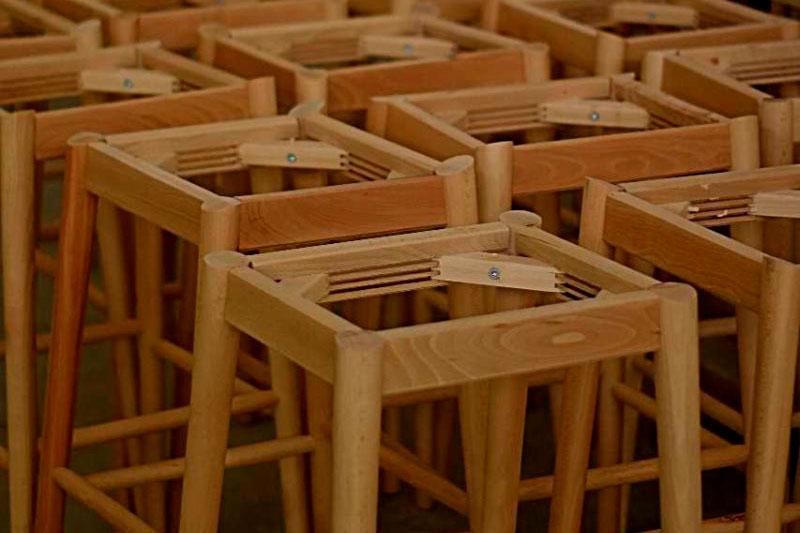 Almacenaje estructuras taburetes